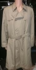 Tan Double-breasted Men's Trench Coat by Woodmere in Size 42 Tall