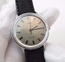 """TIMEX,Automatic,Full-sized ,""""Pewter Dial"""" Tropic Type Band  MEN'S WATCH,817,L@@K"""