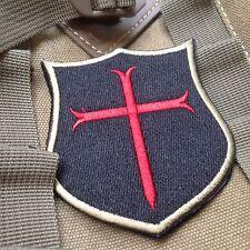 Special force DEVGRU Seal6 Crusader Cross EMBROIDERED Hook & Loop PATCH