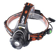 3000LM CREE XML XM-L T6 LED Zoomable Rechargeable Headlamp Headlight Head Torch