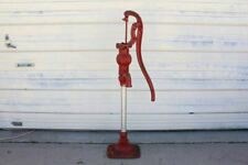 Old Red Jacket Cast Iron Water Cistern Farm Well Tall Pump