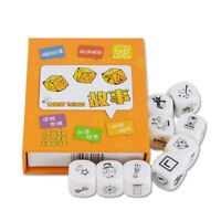 HB- 9Pcs Dice Interesting Story Telling Family Party Children Kids Intelligence