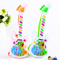Electric Guitar Toy Musical Play For Kids Toddler Learning Electron Puzzle Toy