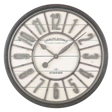 Sterling & Noble Farmhouse Collection Zinc Raised Number 29-Inch Wall Clock