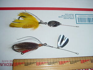 Two T ROBB Weedless Bass Fly Caster By SHAKESPEARE 1923 to 1930 Shows BOOK VALUE