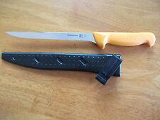 """SWIBO 8"""" NARROW FLEX. FILLET KNIFE 5.8450.20 20CM  WITH POLY SCABBARD SWISS"""