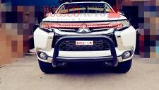 Black Low Nudge bar suitable for Mitsubishi Pajero Sport QE Series 2016-2017