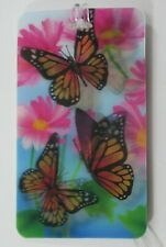 i Monarch butterfly LENTICULAR 3d LUGGAGE TAG id suitcase bag