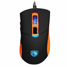 9c61a081852 SADES S8 Gaming Mouse 2500 DPI Backlit USB Wired Mice 8 Buttons for PC  Laptop