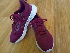 Adidas Purple Magenta Fabric Athletic Sneakers Youth Girls Sz 5 Womens Sz 7