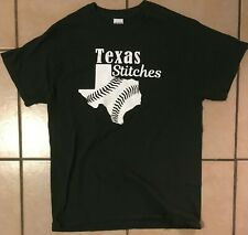 TEXAS STITCHES Baseball T-shirt Number 8 LEAGUE MENS M Forest Green