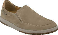 MEPHISTO Leo Sz US 12 M Taupe Leather Slip Ons Loafers Mens Shoes