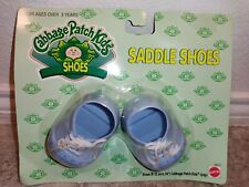 NEW Cabbage Patch Kids CPK Blue Saddle Shoes White Laces