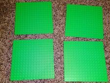 "Lot of 4 LEGO Base plates green thin 16x16 dot 5""x5"" square base plate"