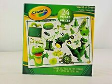 Crayola kids Puzzles World of Green 24 Pieces Game Age 3-12