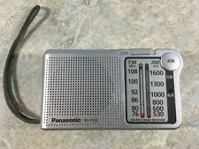 Panasonic RF-P155 AM FM Portable Pocket Radio - Works Great