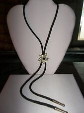 """""""BOLO NECKLACE"""" with Crystal Star, Nylon Cording"""