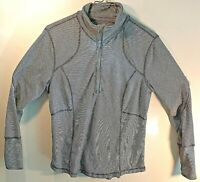 Tangerine Women's Long Sleeve Striped 1/4 Zip Athletic Jacket Size: XL