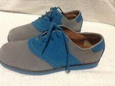 Florsheim Junior Boys Blue/Grey Suede Oxford Shoes Size 6