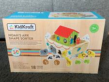 KidKraft - Wooden Noah's Ark Shape Sorter Toys - New In Box- 18 Pieces- Animals
