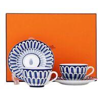 Hermes Tea Cup Saucer Bleus d'Ailleurs Blue Tableware set Porcelain Ornament New