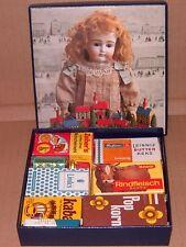 Geschenkidee: Alte Kaufladen-Päckchen -mit INHALT- im Puppenkarton TOP