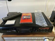 Sony MiniDisc Deck MDS-JE330 w/ RM-D29M Remote and 2 Sony DVR MiniDiscs Tested