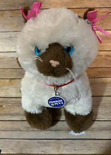 """Build A Bear Promise Pets Siamese Himalayan Brown Kitty Cat 12"""" Collar Plush Toy"""