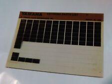 1981 Yamaha Motorcycle XS1100SH Microfiche Parts Catalog XS 1100 SH