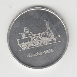 Medaille  DDR  Eisenbahn   Gotha 1855