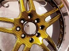 HYDROGRAPHIC WATER TRANSFER HYDRODIPPING FILM HYDRO DIP CARBON FIBER GOLD