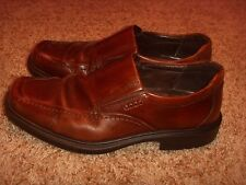 ECCO Burgundy Leather Slip On Loafers Mens Size 43