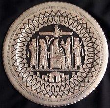Persian Zoroastrian Vintage Metal Decorate Plate Faravahar Darius the Great 455