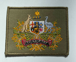 Australian Army Coat Of Arms Warrant Officer RSM Square Uniform Patch Surplus