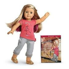 American Girl ISABELLE DOLL and BOOK pierced ears earrings tee pants shoes NRFB
