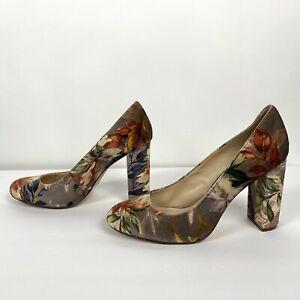 Nine West Leroux Velvet Multicolor Pump Heels Size 9.5