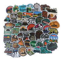 50Pcs Camping Landscape Sticker Outdoor Adventure Suitcase Laptop Guitar Stic ZH