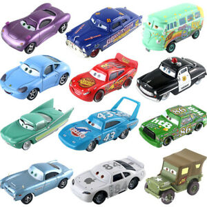 Disney Pixar Cars Lot Lightning McQueen 1:55 Diecast Model Car Toys Kids Loose