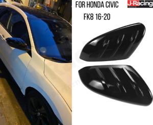 Honda Civic Type R FK8 MK10 Gloss Black Wing Mirror Cover Caps Pair 2016-2020