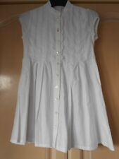 NEW WITH TAGS OILILY DRESS STUNNING WHITE BUTTON UP SIZE 116 100% COTTON