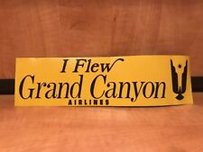 Vintage  Grand Canyon Airlines Bumper Sticker 1950´s / 60´s