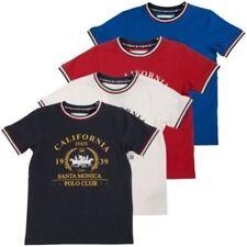 Vêtements rouge à motif Graphique pour garçon de 2 à 16 ans en 100% coton