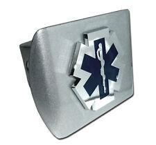 fire ems logo emblem chrome brushed trailer hitch cover usa made