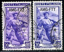 Occupazioni Trieste A 1950/54 Italia al Lavoro n. 97 - varietà - usato (m3003)