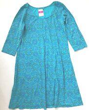FRESH PRODUCE Medium Luna Blue MOSAIC Shells DALIA Cotton Jersey 3/4 Dress NWT M