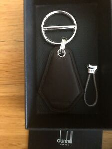 DUNHILL OF LONDON LONGTAIL BROWN LEATHER KEYFOB £200 MADE IN ITALY NEW BOX ID