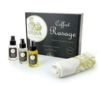OSMA TRADITION RASIERSET: Washgel Pre-Shave-Oil Aftershave Balsam 50 ml FRANCE
