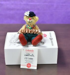 Hermann Clown Miniature with Accordion Limited Edition Boxed