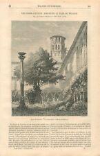 Couvent des Augustins Cloître des Grands-Augustins Musée  Toulouse GRAVURE 1867