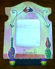 """Cute Flowers """"Friends"""" Wooden Picture Frame"""